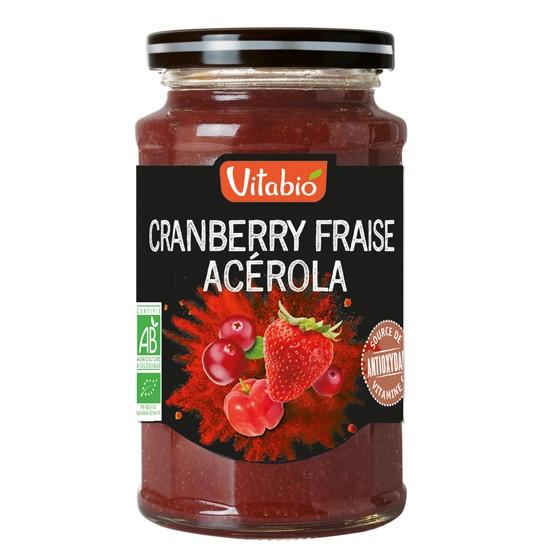 - spead cranberry fraise acerola - Vitabio Επάλειμμα Κράνμπερι, Φράουλα & Ασερόλα 290gr
