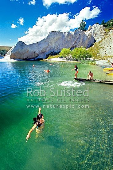 Summer Swimming In Blue Lake Lake Formed From Old Gold