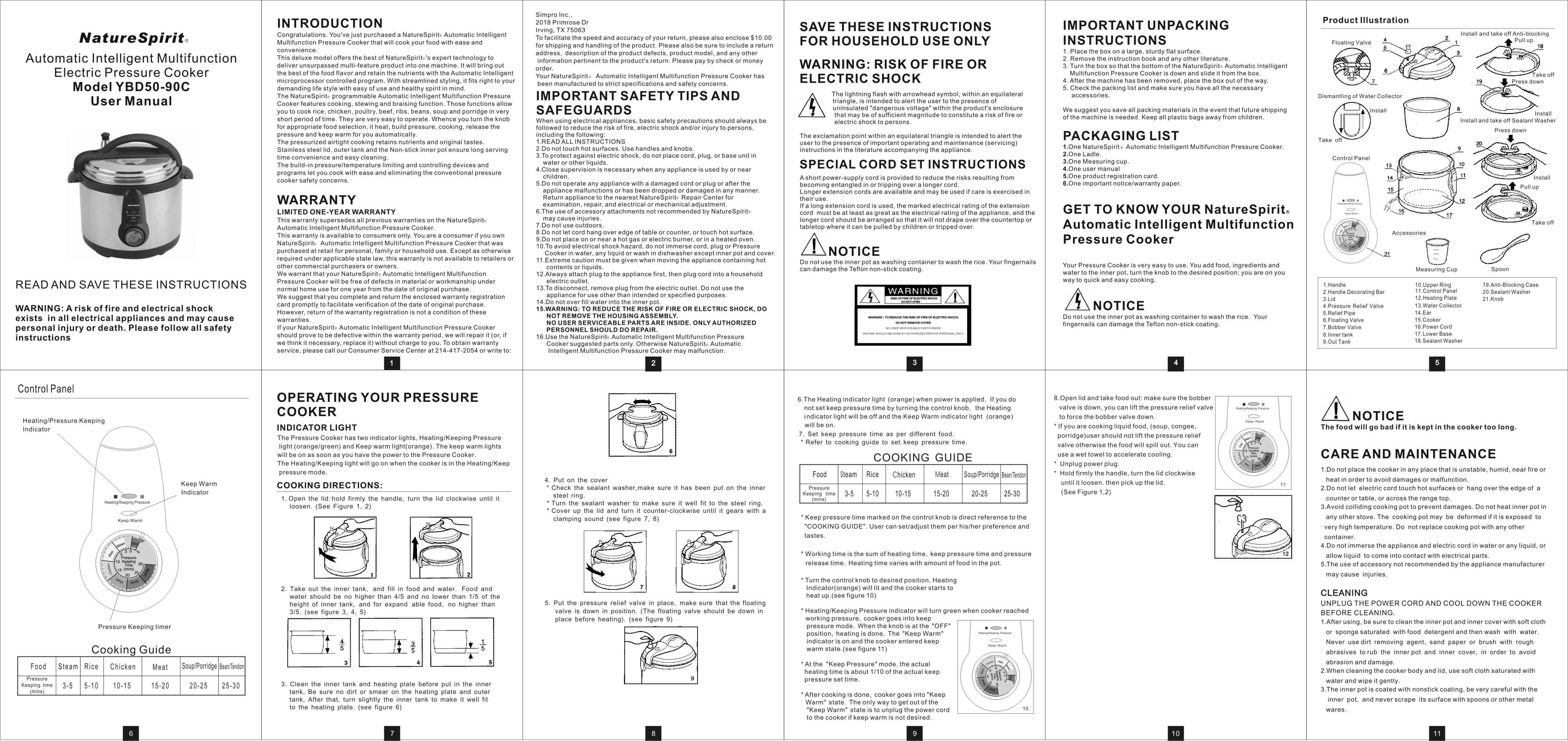 Manual For Pressure Cooker