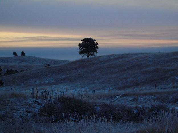 Sunrise in Wind Cave NP.
