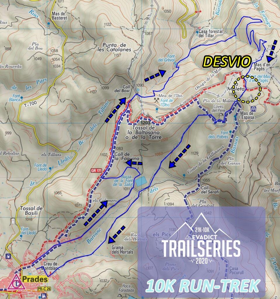 MAPA TRAIL  PRADES 10K