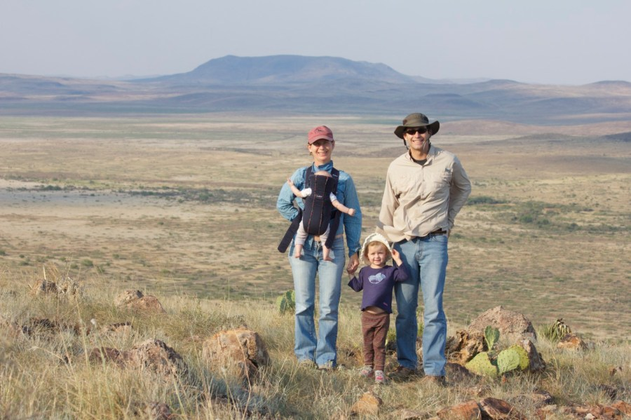 Jonah, Ciel, Stella, and Phoebe in Alpine, TX in 2013