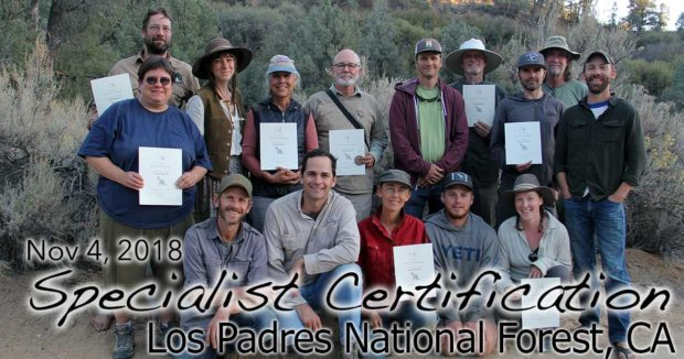Los Padres NF Specialist Certification 11/04/2018