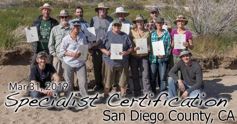 San Diego CA Specialist Certification 3/31/2019