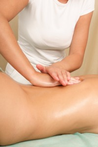 female back massage - vertical