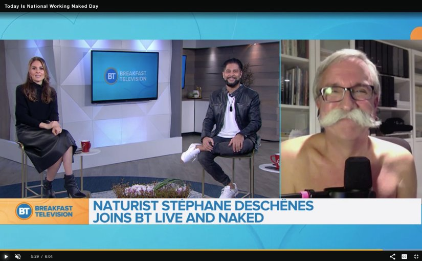 naturist on breakfast television