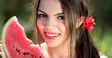 vannmelon med jente