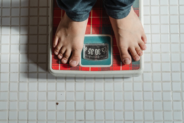 på vekta