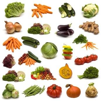 Frutas y Verduras ricos en fibra alimentaria