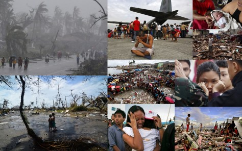A photographic collage showing heart-rending scenes from the aftermath of typhoon Haiyan. Image: NaturPhilosophie