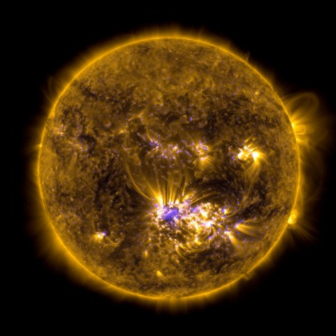 A photograph of the Sun's full disk. Image: NASA