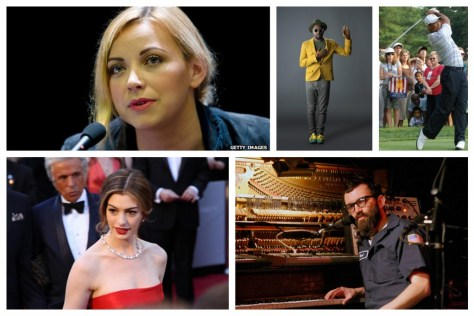 A photographic collage showing a number of Quantum celebrities, including Charlotte Church, Will I. Am, Tiger Woods, Anne Hathaway and Mark Everett. Image: NaturPhilosophie