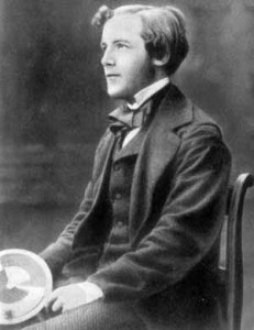 A black and white photograph showing a young James Clerk Maxwell.