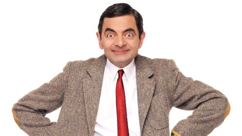 A photograph showing the hapless character of Mr Bean, played by British comedian Rowan Atkinson.