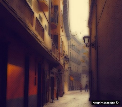 A computer-generated drawing based on a photograph from a typical street in Saragossa, in Spain. Image: NaturPhilosophie