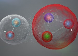 An alternative representation of the possible structure of a pentaquark subatomic particle.