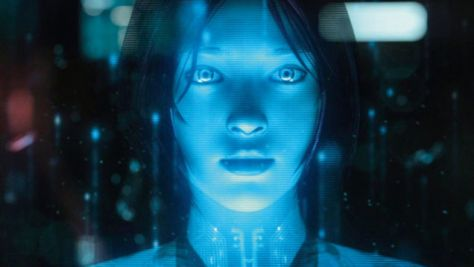 A portrait of computer artificial intelligence Cortana, as pictured in computer game Halo.