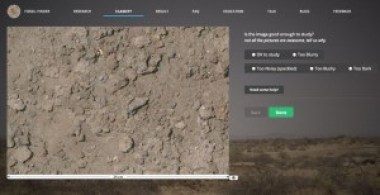 A screenshot view of the Fossil Finder Website.