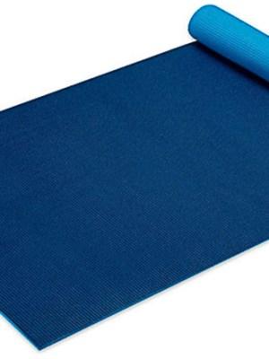Gaiam yogamat 5 mm licht blauw navy