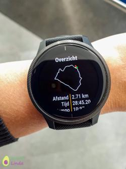 Garmin Venu GPS route