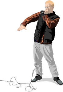 Danmarksmesteren i human beat box, Simon Adel, udgør en tredjedel af Bobby Johnson