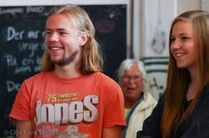 Mathias Lund Brochdorff Frederiksen og Freja Adler Sturm Nielsen fra NAU's ledelse deltog i åbningen. Foto: Cilja Ravn Thomsen