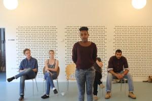 Ungegruppen Contact fortæller om deres forskelligheder. Foto: Esben Holst Harboe, DAB