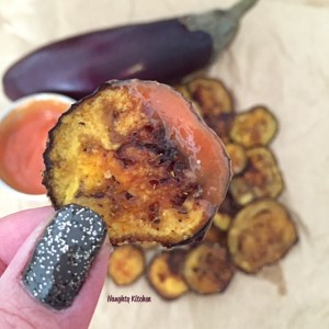 Baked Eggplant Chips by Naughty-Kitchen.com