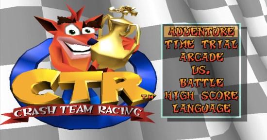 Menu CTR Crash Team Racing