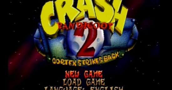 Menu Crash Bandicoot 2