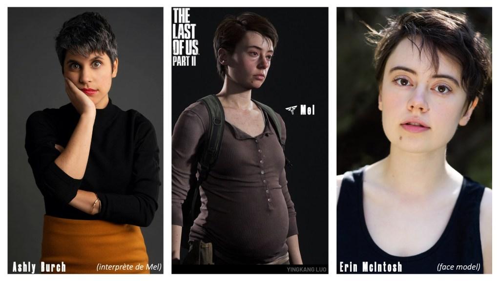 Le personnage de Mel et le visage de ses interprètes et/ou modèles