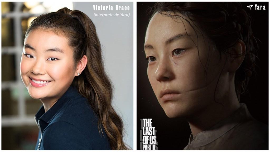 Le personnage de Yara et le visage de son interprète et/ou modèle