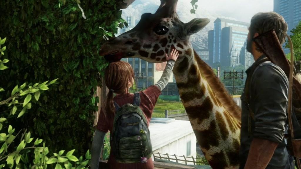 Ellie et Joel rencontre une Girafe dans TLOU1 - Une girafe à Calgary?