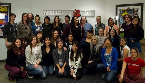 Une partie des femmes travaillant à Naughty Dog en 2017