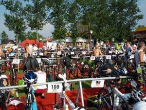 triathlon susz rowery w boksach