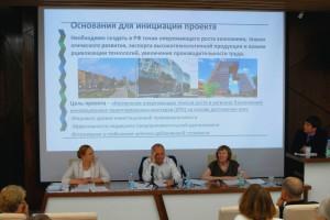 На заседании Совета кластера в биотехнопарке Кольцово.