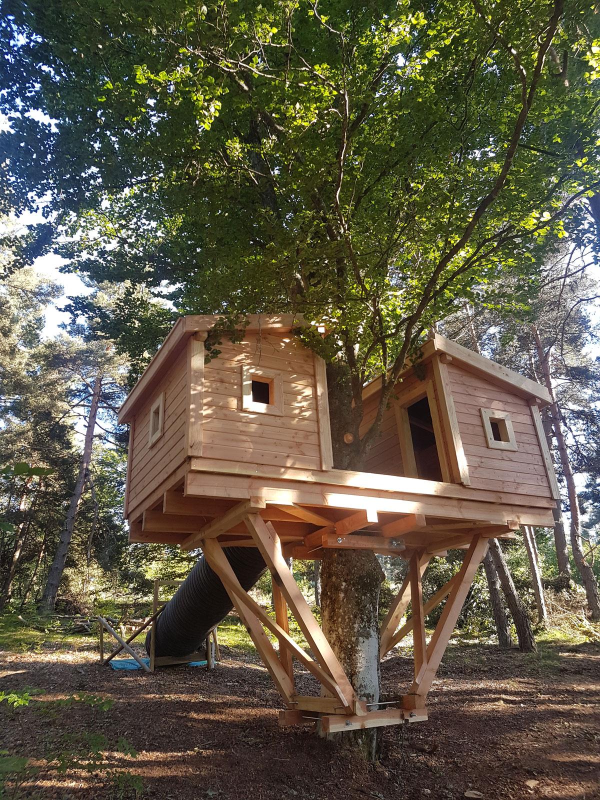 Cabane pour accrobranche