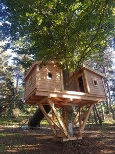 fabrication cabane accrobranche lozère 48