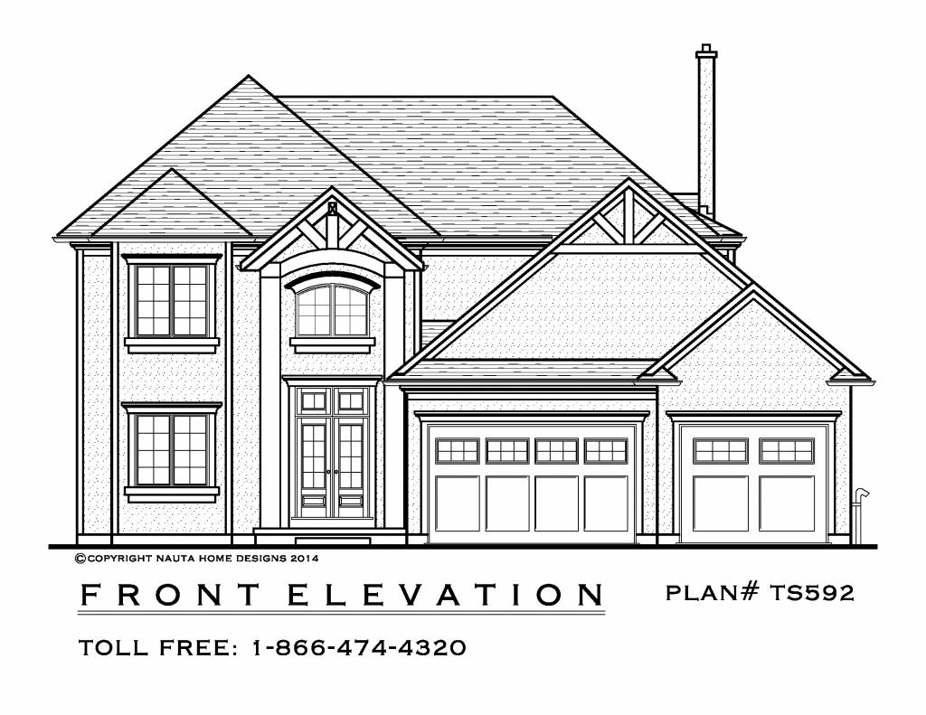4 Bedroom Two Storey House Plan Ts592