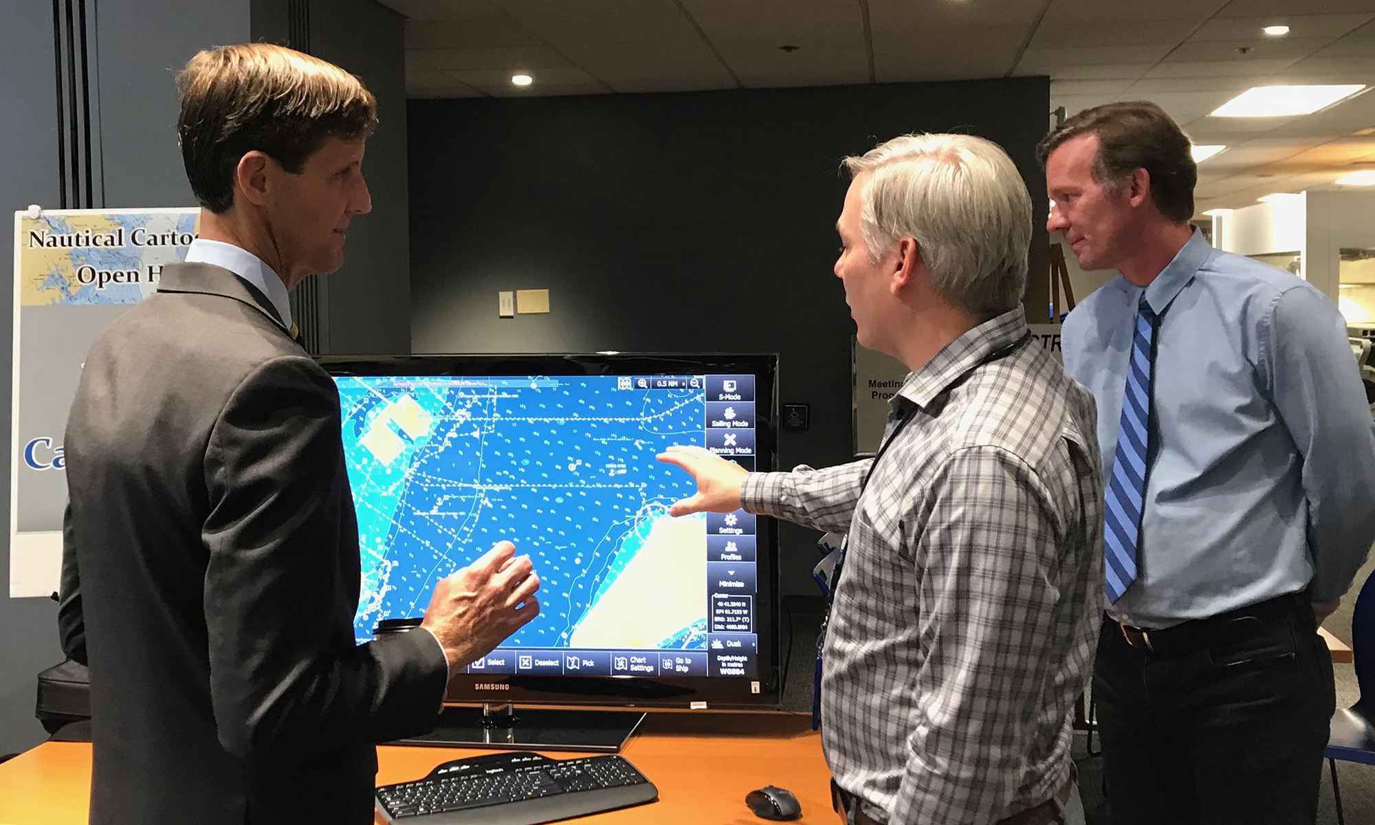 RDML Tim Gallaudet (Navy, ret.) with Sean Leger of Coast Survey