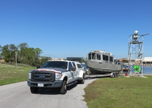 NRT-Stennis deploys the boat at USCG Base Panama City