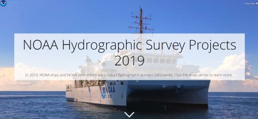 NOAA Hydrographic Survey Projects 2019 story map cover