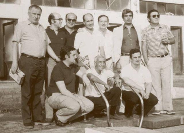 Foto de los fundadores de la Deportiva Náutica de Portugalete