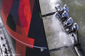 ORACLE Racing eyes July launch of first AC72 catamaran