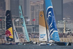Extreme Sailing Series: Austria's Red Bull Sailing Team, Lead in China After Opening Day of Act 2