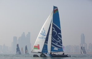 Extreme Sailing Series : Testing light winds in Qingdao on day one