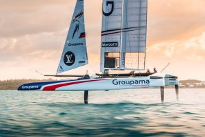 Premiers bords du Class AC Groupama Team France aux Bermudes