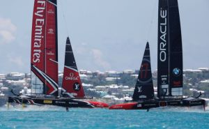 Peter Burling and Emirates Team New Zealand win the 35th America's Cup