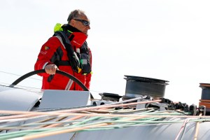 Francis Joyon has smashed the solo North Atlantic Record