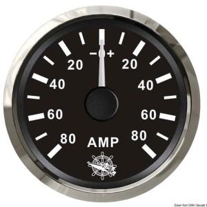 Amperometro Con Shunt 50 A Bianco Lucida 27 322 23 Osculati